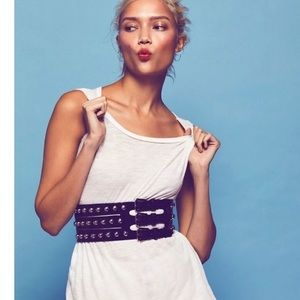 NWOT Free People Studded Corset Dome Belt